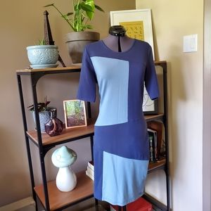 Numph Blue Geometric Dress
